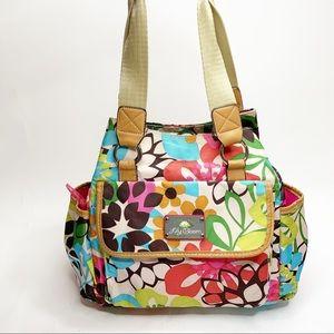 Lily Bloom Floral Nylon Shoulder Bag